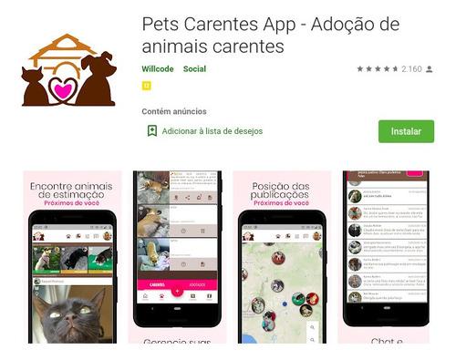Imagem 1 de 10 de Sistema Adoção Pets Mais Baixado Do Brasil, 50mil Downloads