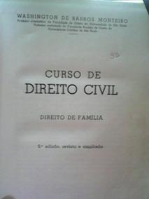 Livro Curso Direito Civil - W. B. Monteiro Ano 1964