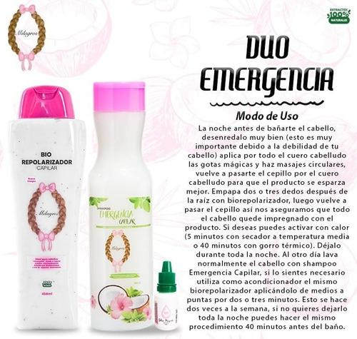 Shampo Duo Emergencia Capilar Milagros! - mL a $78