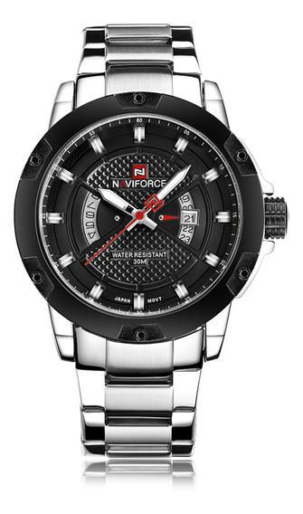 Naviforce 9085 Quartzo Homem Relógio Único Moda Esporte Ca
