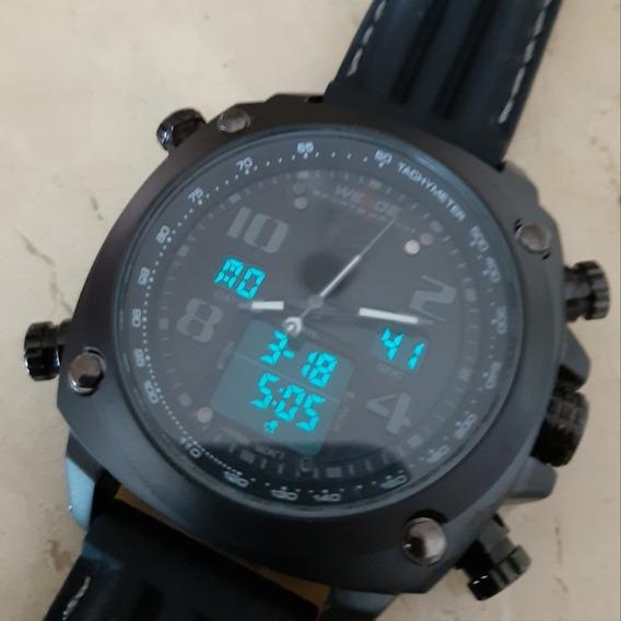 Relógio Weide Militar Preto Wh5208-1c Envio Imediato!