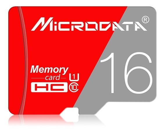 Microdata 16gb Class10 Vermelho E Cinza Tf (micro Sd)