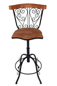 Cadeira Ferro E Madeira Arabesco- Alta 80 Cmalta Qualidade