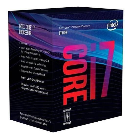 Processador Intel Core I7-8700k Hexa Core De 3.7ghz Com Cache 12mb
