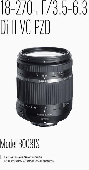 Lente 18-270mm F/3.5-6.3 Montura Para Nikon. B008tsn