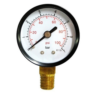 Manometro 100 Psi 7 Bar Para Bomba De Agua