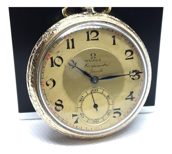 Reloj De Bolsillo Omega Chronometer 21 Joyas Paris Deluxe 20