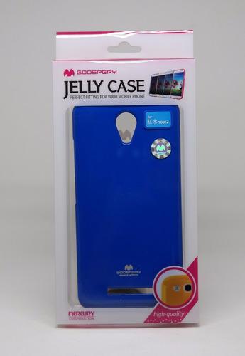 Funda Xiaomi Note2  Mercury Goospery Jelly Case Azul