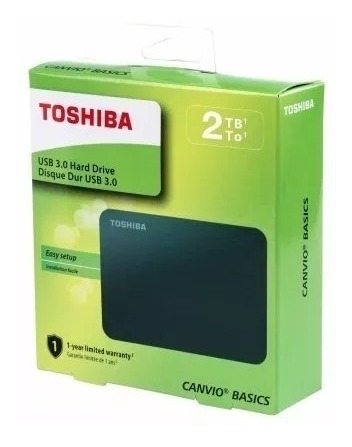 Imagen 1 de 5 de Disco Duro Externo 2 Tb Toshiba Canvio Usb 3.0 / 2.0 Nuevos