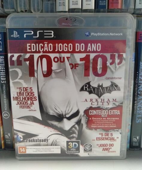 Batman Arkham City Ps3 Física Sem Juros