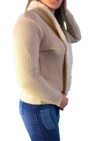 Blusa Feminina Casaco De Lã Com Pelo - Roupas Femininas