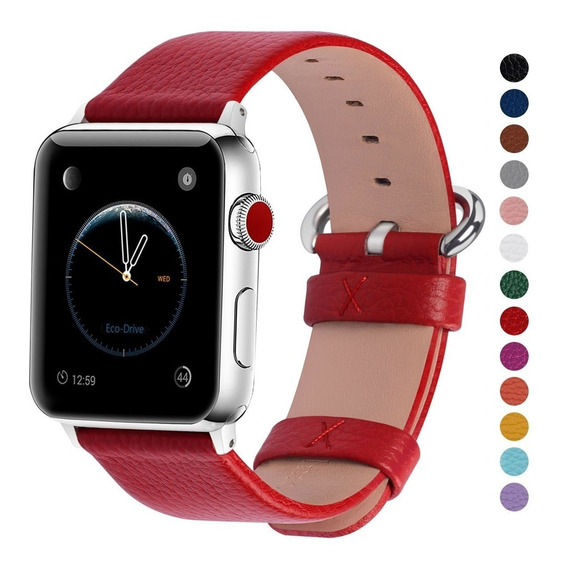 Extensible Correa Apple Watch Cuero Roja 38mm 40mm 42mm 44mm