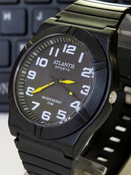 Relógio Atlântis Submariner Moderno Casual Lux Original C312