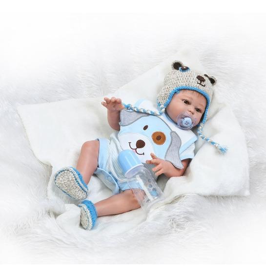 Bebe Reborn Menino 55cm Silicone Pronta Entrega D553