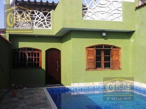 Imagem 1 de 7 de Casa Com 2 Dormitórios À Venda, 125 M² Por R$ 500.000,00 - Parque Residencial Casa Branca - Suzano/sp - Ca0034