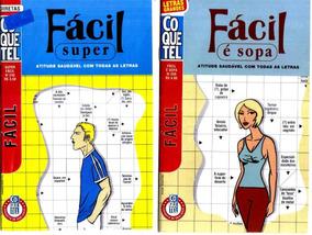 Lote Kit 2 Revistas Coquetel Fácil Super E É Sopa Cruzadas