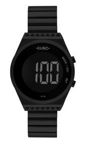 Relógio Euro Feminino Digital Preto Eubjt016ad/4p