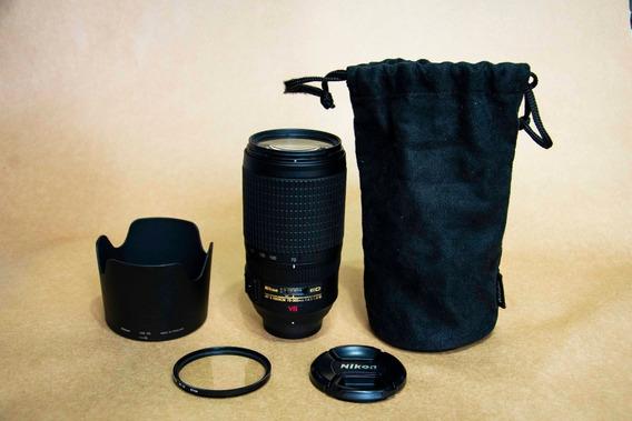 Lente Nikon 70/300mm F4.5/5.6 G Vr Ed Serve Full Frames