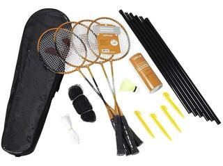 Kit Badminton Vollo 4 Raquetes+3 Petecas+rede+suporte+bolsa