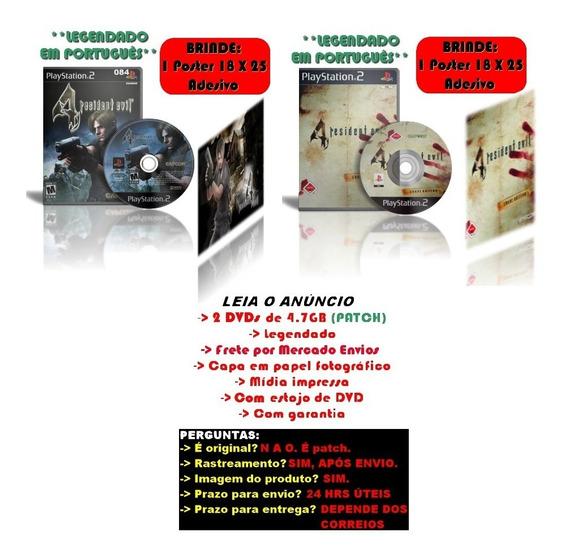 Kit Resident Evil 4 + Resident Evil 4 Cheat Edition Ps2 Leg