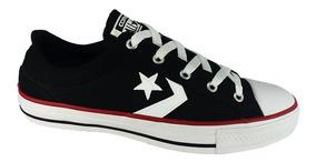 Tênis Converse All Star Player Preto Vermelho Unissex 009619