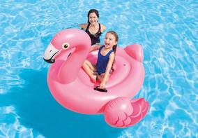 Bóia Infl. Flamingo Gg. P/ Adultos E Crianças Praia Piscina