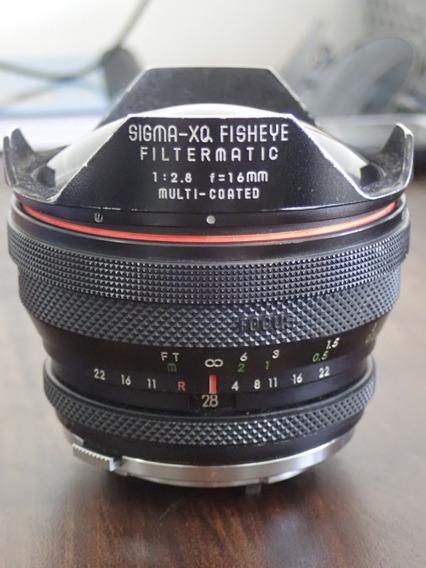 Sigma 16mm Fish Eye F2.8 Com Defeito