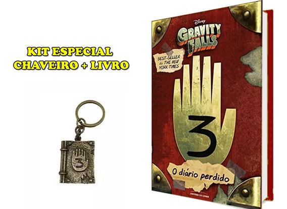 Livro Gravity Falls - Diário 3 - Original + Chaveiro Diário