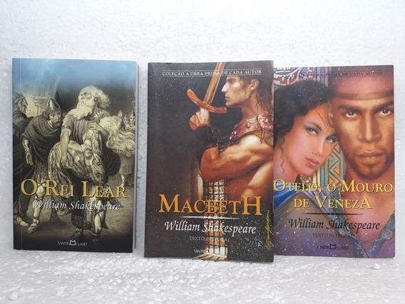 Pacote 3 Livros Macbeth,o Rei Lear E Otelo O Mouro De Veneza