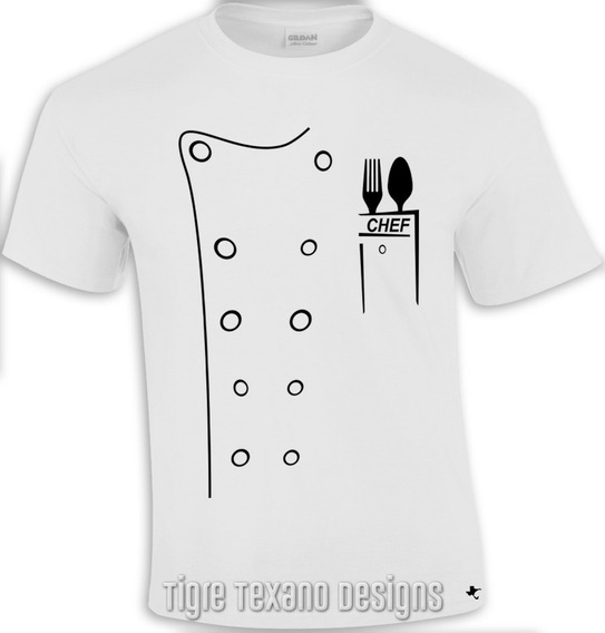 Playera Chef, Filipina, Cocina By Tigre Texano Designs