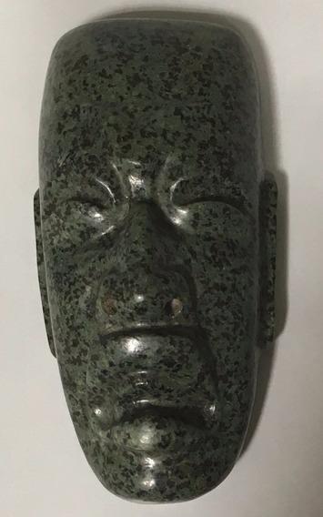 Pectoral De Piedra Cabeza De Jade Maya