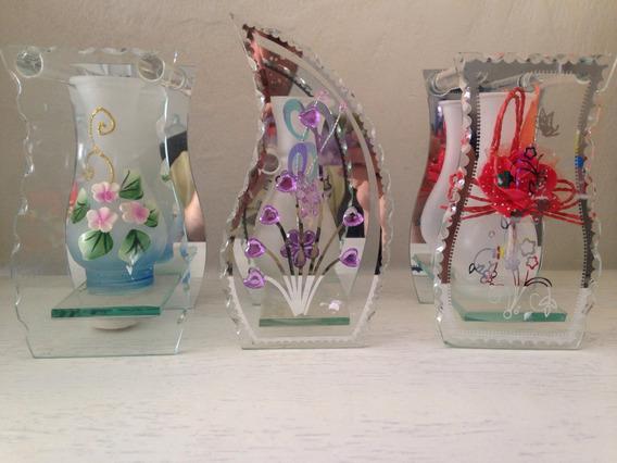 Vaso Decorativo De Vidro + Brinde