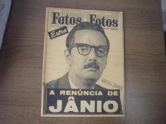 Revista Antiga Rara 02/09/1961 Fatos E Fotos Renuncia Janio