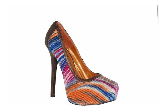 Zapatillas Importadas Promise Modelo Woven Fucsia, Gris
