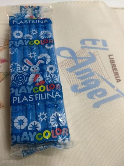 Plastilina Playcolor X 200 Grs Azul / Ideal Jardin