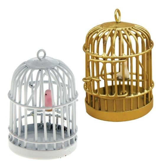1 : 12 Escala Metal Pássaro Gaiola Com Pássaro Birdcage Pa