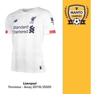 Camisa Feminina Liverpool 2019/2020 Away Frete Grátis