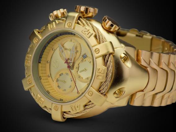 Relógio Orizom Masculino Dourado Luxo Barato E Com Frete Grátis