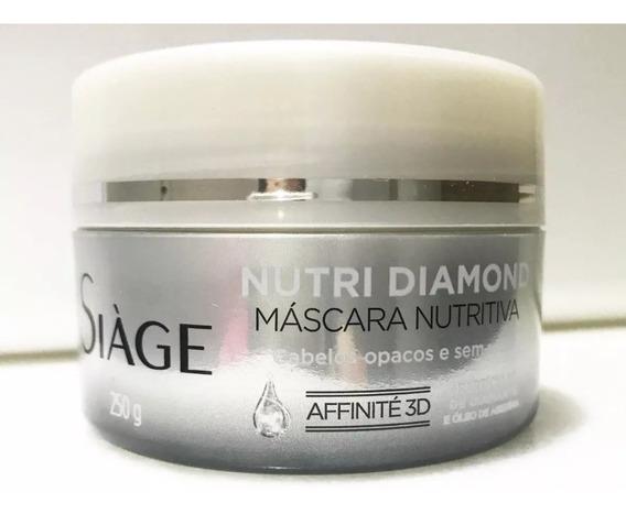Máscara Nutritiva Siàge Nutri Diamond 250g. Eudora