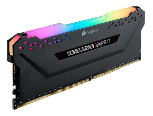 Imagem 1 de 3 de Memória RAM Vengeance RGB Pro color Preto  32GB 2x16GB Corsair CMW32GX4M2G4000C18