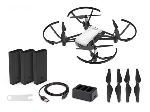 Drone Dji Tello Boost Combo Arctic White C/ Nf