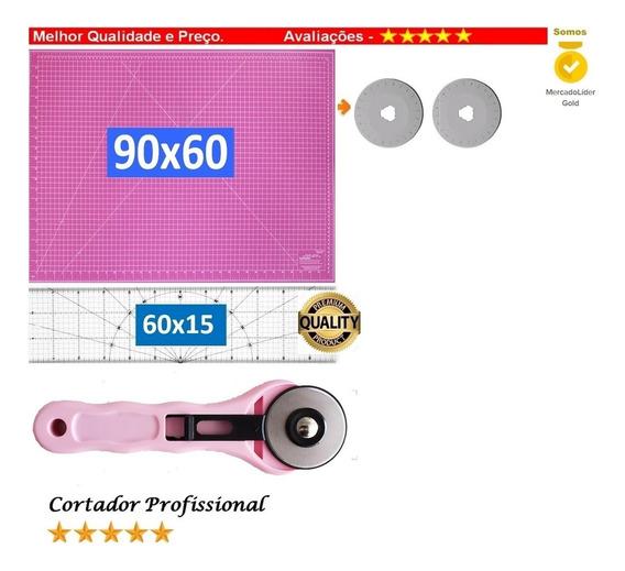 Base Rosa 90 + Régua 60 +cortador 45 Patchwork,scrapbook