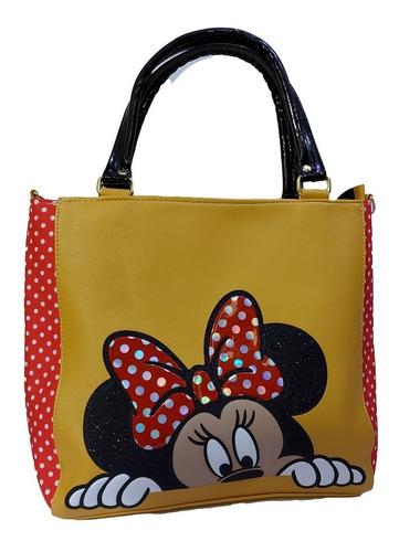 Imagen 1 de 7 de Hermosa Bolsa De Mano Para Dama, De Disney, De Minnie Mouse