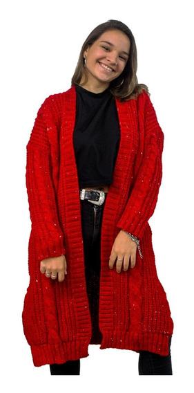 Saco Largo Mujer Dama Lana Sweater Abrigo Invierno 2020