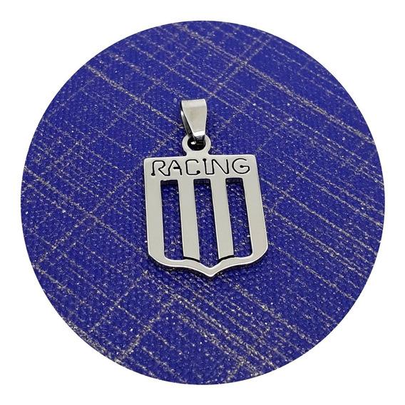 Collar Escudo De Racing Club Acero Quirúrgico Joyas Mónaco
