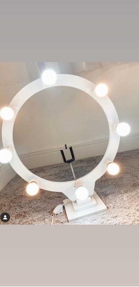 Ring Light Com 8 Lâmpadas E 50cm De Diâmetro