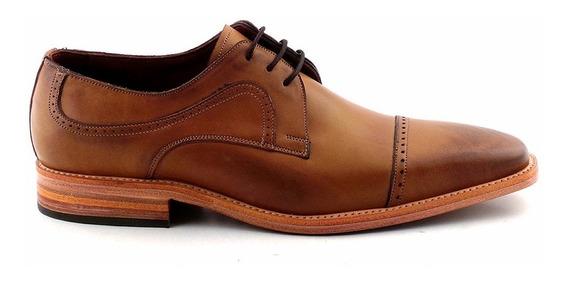 Zapato Cuero Hombre Vestir Briganti Acordonado - Hcac00855