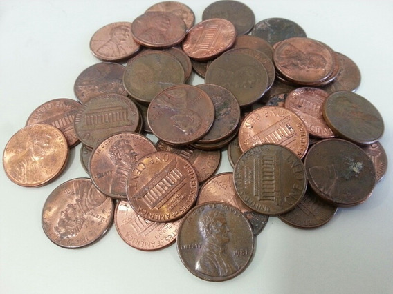 Lotes De 50 Monedas Un Cent 1959 - 2019 Usa