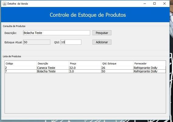 Sistema De Controle De Vendas Em Java E Mysql (netbeans)