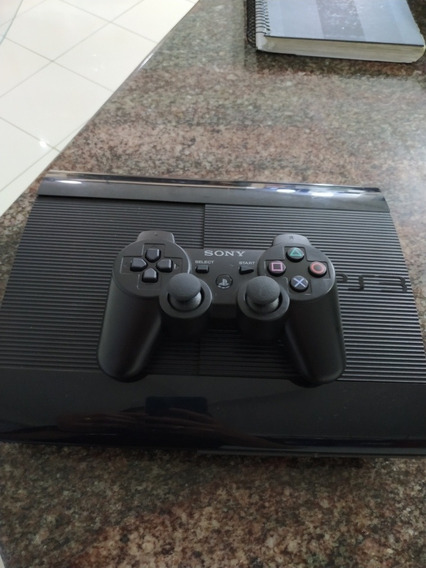 Playstation 3 Super Slim 250 Gb+jogos Originais Instalados